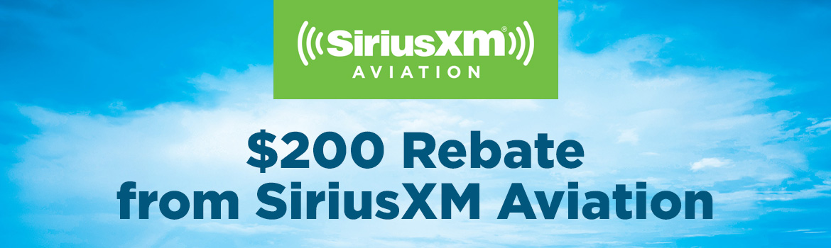 $200 Rebate from SiriusXM Aviation